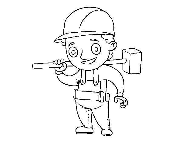 Foreman coloring page