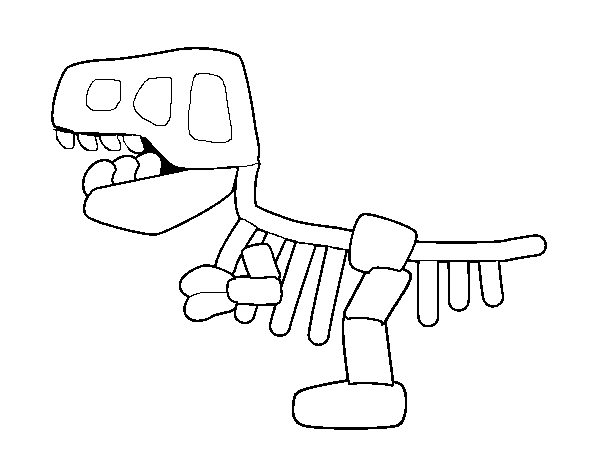Fossil coloring page