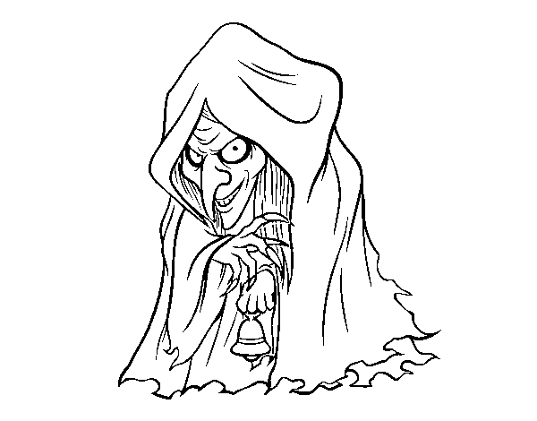 Frau Perchta coloring page