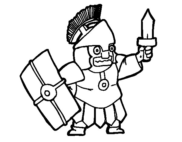 Frightened soldier coloring page