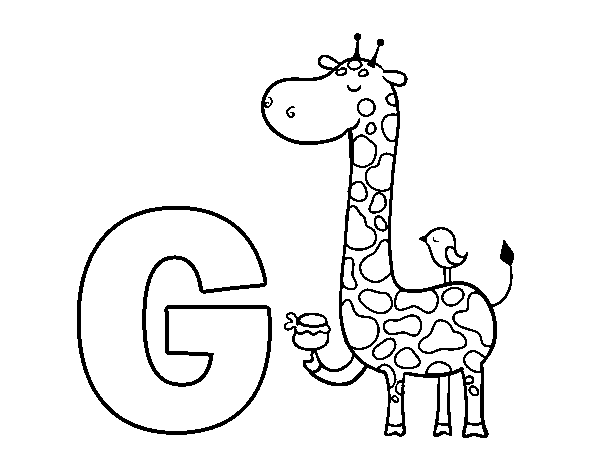 G of Giraffe coloring page