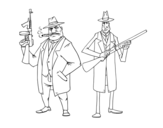 Gangsters coloring page