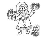 Gifts from Santa Claus coloring page