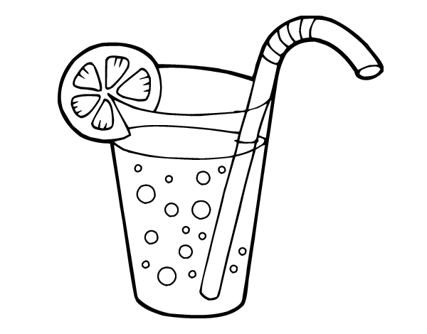glass of soda coloring page coloringcrewcom