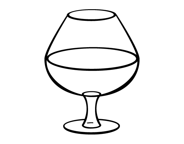 Glass of wine coloring page - Coloringcrew.com