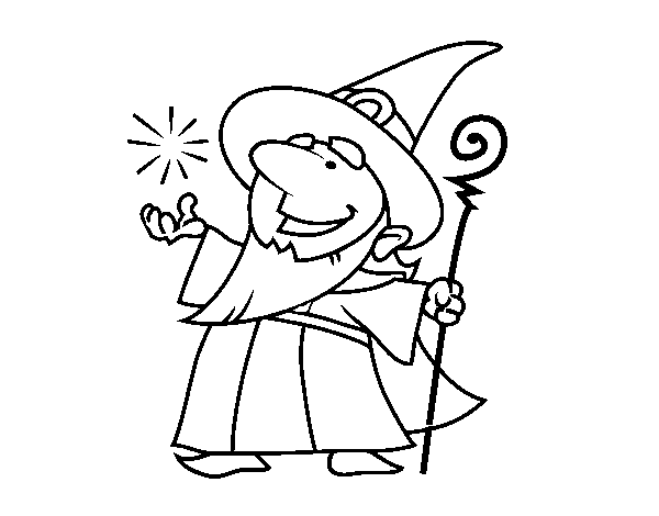 Good wizard coloring page