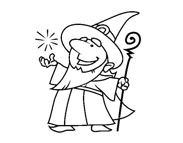 Good Wizard Coloring Page Coloringcrew Com