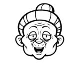 Granny face coloring page