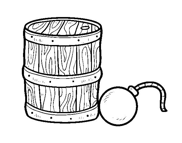 Gunpowder And Pirate Bomb Coloring Page Coloringcrewcom