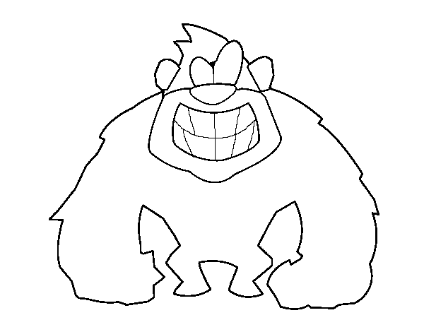 Hairy gorilla coloring page