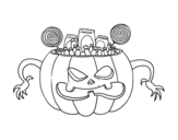 Halloween sweets coloring page