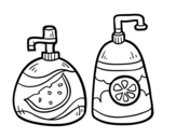 Hand soaps coloring page