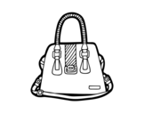 Handbag with handles coloring page