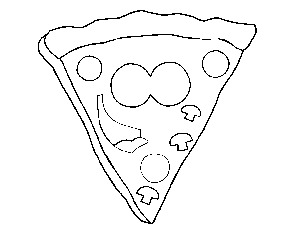 Hapyy pizza coloring page