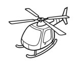 Helicopter flying coloring page