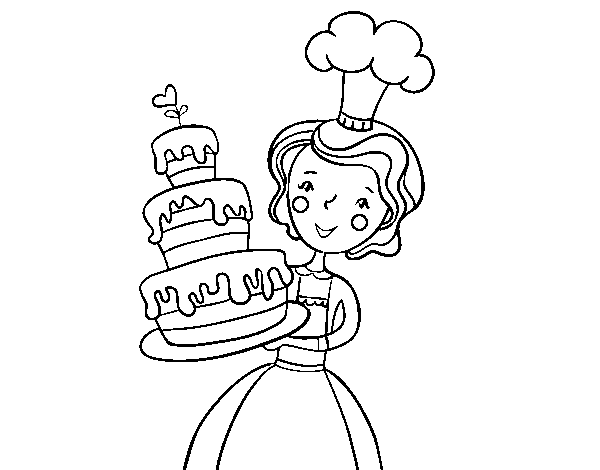 Homemade Birthday Cake coloring page