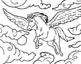 Horse-god coloring page