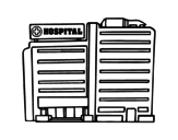 Hospital coloring page