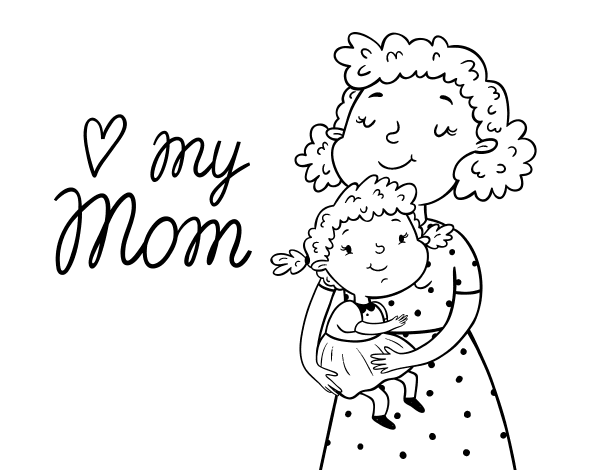 This is a photo of Critical I Love My Mommy Coloring Pages