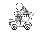 Ice cream food truck coloring page
