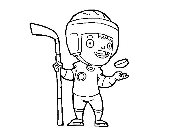 Ice hoquei coloring page