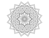 Increasing flash mandala coloring page