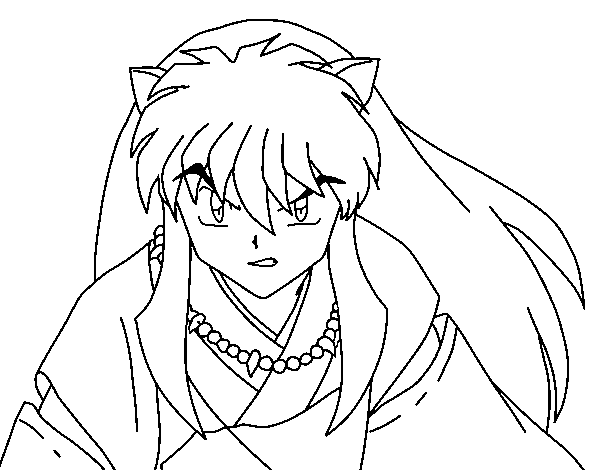 coloring : Inuyasha Coloring Pages Inuyasha Color Pages' Inuyasha ... | 470x600