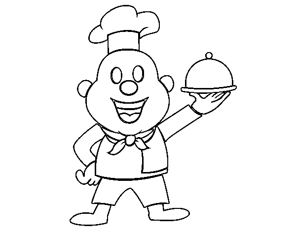 Italian cook coloring page