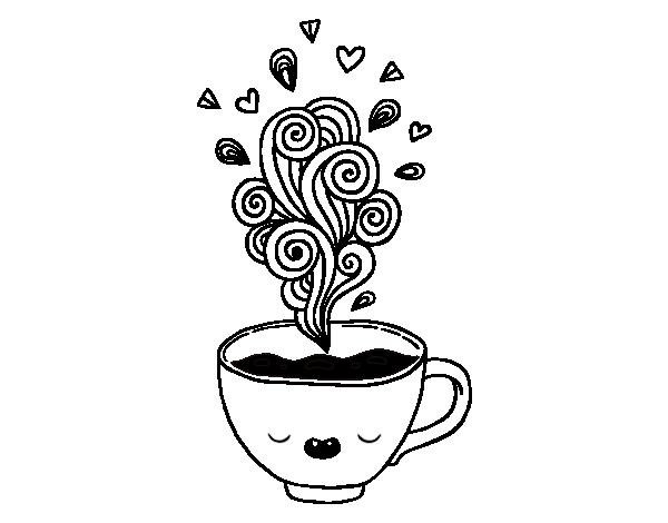 Kawaii Cup Of Coffee Coloring Page Coloringcrew Com