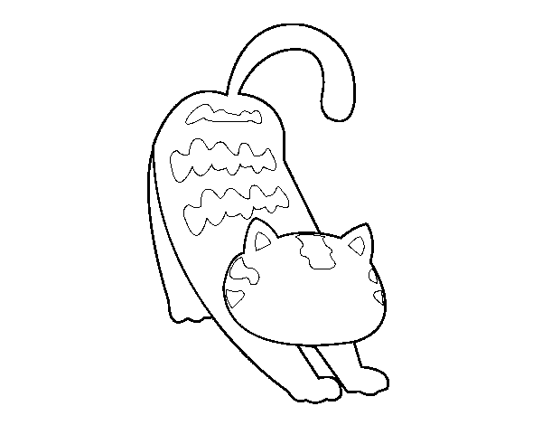 Lazy cat coloring page
