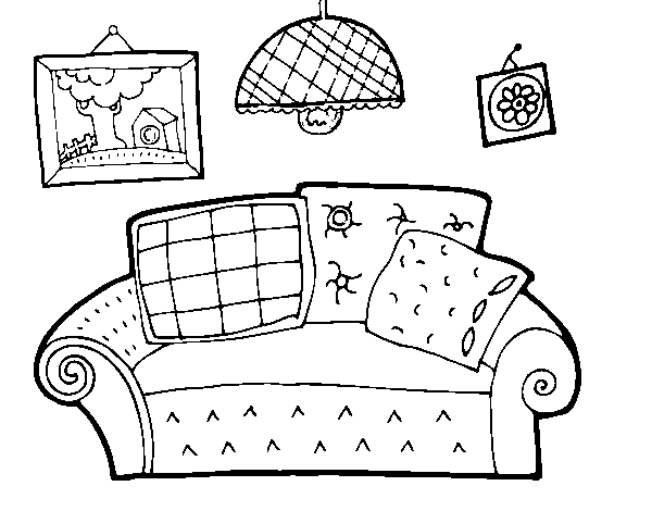 Living room coloring page - Coloringcrew.com