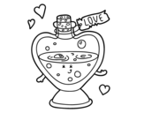 Love potion coloring page