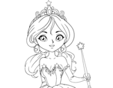 Magic princess coloring page