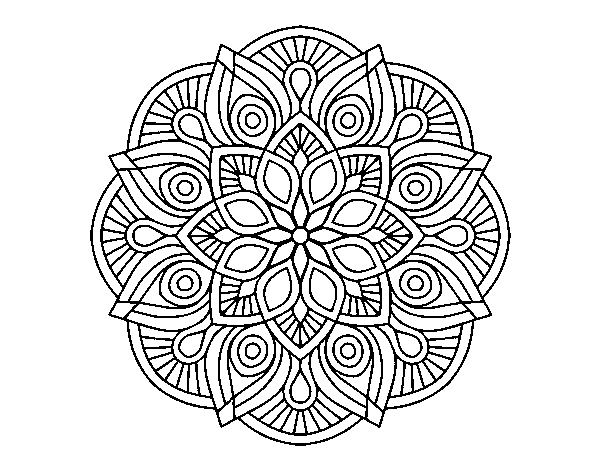 Alhambra coloring pages ~ Mandala alhambra coloring page - Coloringcrew.com