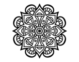Mandala arab world coloring page