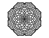 Mandala conceptual flower coloring page