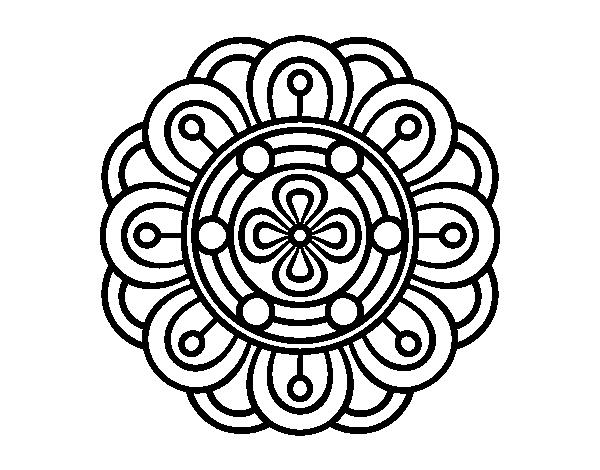 Mandala creative flower coloring page - Coloringcrew.com