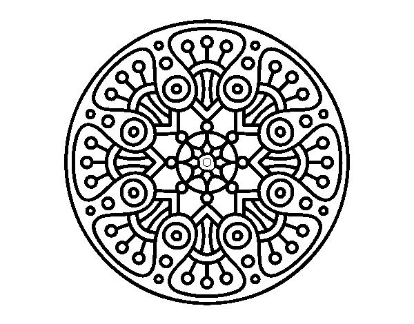 Mandala Crop Circle Coloring Page