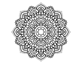 Mandala decorated star coloring page
