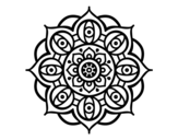 Mandala open eyes coloring page