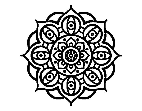 Mandala open eyes coloring page - Coloringcrew.com