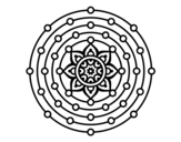 Mandala solar system coloring page