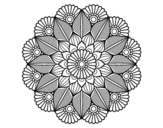 Mandala vegetable garden coloring page