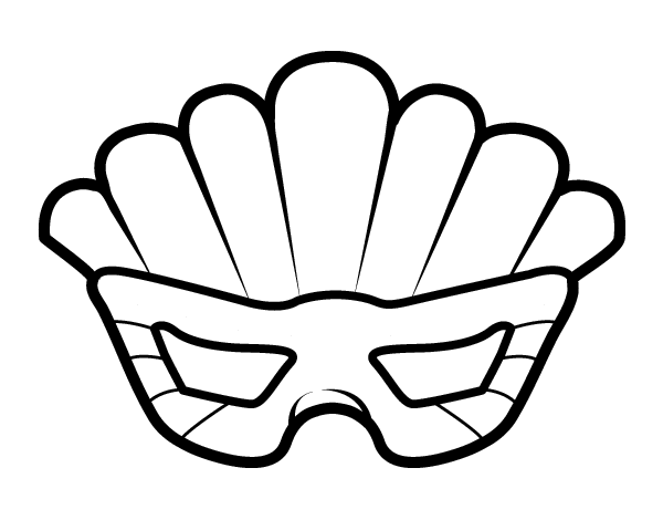 Mask with plumes coloring page - Coloringcrew.com