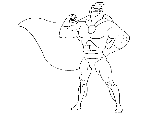 Masked hero coloring page