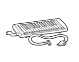 Melodica coloring page