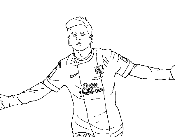 messi coloring page coloringcrew