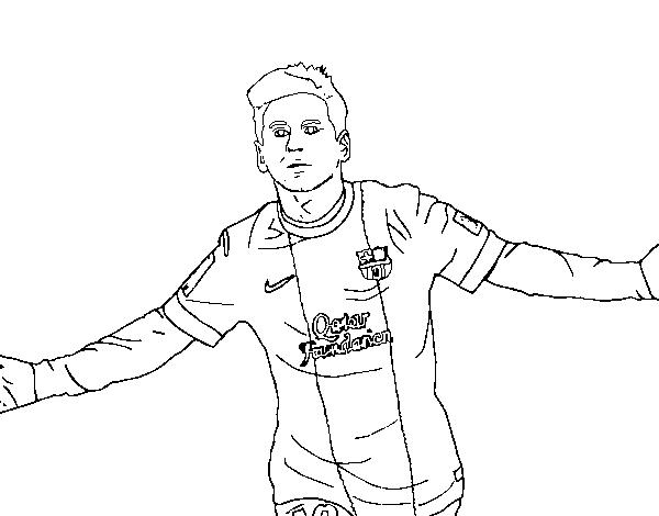 Messi Coloring Page Coloringcrew Com