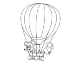 Dibujo de Mice in a balloon