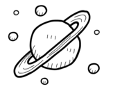 Moons of Saturn coloring page